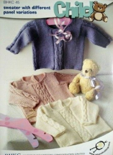 BHKC 45 BABY CABLE JUMPER DK KNITTING PATTERN